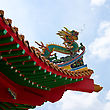 Canopy Chinese Dragon On The Roof Of Pagoda In Kuala Lumpur, Malaysia stock image