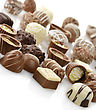 Chocolate Candies Assortment ,Close Up stock photo