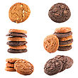 Chocolate Cookies Set stock photo
