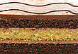 Chocolate Fudge Layer Cake , Close Up stock photo