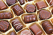 Chocolate In Yellow Box, Horizontal Picture. stock image