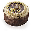 Chocolate Peanut Butter Cake stock photography