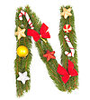 Christmas Alphabet stock image