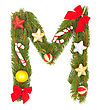 Christmas Alphabet. Part Of Full Set stock photography