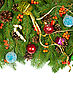 Christmas Background With Balls And Decorations stock photo