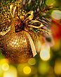 Christmas Background With Baubles And Beauty Bokeh stock image