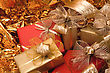 Christmas Background. Shiny Gifts stock photography