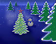 Christmas Background With Pine Trees stock photo