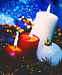 Christmas Backgrounds With Candles And Garland For Your Design stock photo