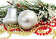 Christmas Ball And Bell stock image