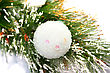 Christmas Ball On Fir Tree stock image