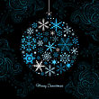 Christmas Ball Of The Snowflakes. Vector Background