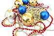 Christmas Balls And Garlands stock image