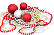 Christmas Balls And Garlands stock photography
