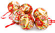 Christmas Balls Isolated On White Background stock image