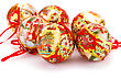 Christmas Balls Isolated On White Background stock photography