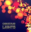 Christmas Bokeh Light. Vector Illustration On Dark Background