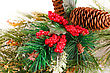 Pine Christmas Colorful Decoration Closeup Image stock photography