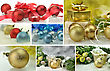 Christmas Decoration Collage stock image