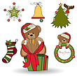Christmas Decoration Elements Set In Vector Format