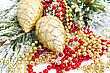Christmas Decoration And Garlands stock photo