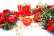 Christmas Decorations And Candles stock image