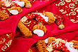 Christmas Fabric Patten Closeup Image stock photography