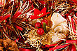 Christmas Garland As A Background stock image