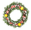 Wreath Christmas Green Framework stock image