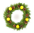 Wreath Christmas Green Framework stock photo