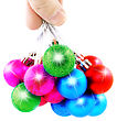 Christmas And New Year Decoration-balls. Isolated On The White Background stock image
