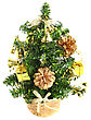 Christmas And New Year Decoration-basket With New Year Tree. Isolated stock photo