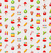 Christmas And New Year Seamless Background Pattern With Traditional Xmas Element - Vector stock vector