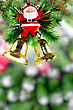Fragment Christmas And New Year Tree. Isolated Over White stock photography