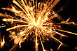 Christmas Sparkler On Black Background. Bengal Fire stock photography