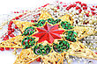 Christmas Star And Garland stock image