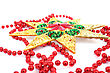 Christmas Star And Garland stock photography