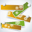 Christmas Stickers With Snowflakes And Pins