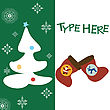 Christmas Text Card On Green Background Wuith Place For Sample Text