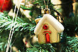 Christmas Toy In The Form Of Home Close Up stock image