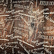 Christmas Words Pattern On Wooden Wall. Vector stock vector