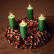 Christmas Wreath with Candles stock photography