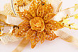 Christmas Yellow Decoration Closeup Image stock photo
