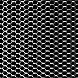 Chrome Metal Grid On The Black Background