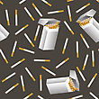 Cigarette Seamless Pattern Isolated On Grey Background