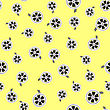 Cinema Film Tape Seamless Pattern On Yellow Background