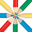 Circle Of Multicolored Pencils stock photography