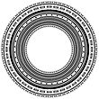 Circle Vintage Frame Isolated On White Background stock illustration