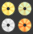 Circular Saw Discs Isolated On Dark Background