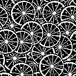 Citrus Slice Background, Seamless Pattern In Black And White
